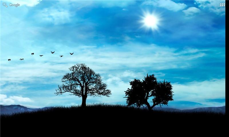 一款适合于电视的唯美风景动态壁纸:日夜渐变动态壁纸